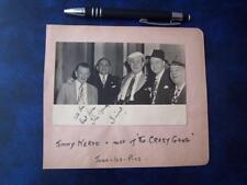 Jimmy Nervo Autograph (code NO18 )
