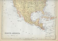 1878 Color Map of North America (Folded at Center)