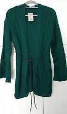 Bottle Green BNWT Women's Knit Wrap Cardigan Front Tie LARGE