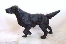 Vintage Cast Iron Black Setter Retriever Pointer Hunting Dog Door Stop