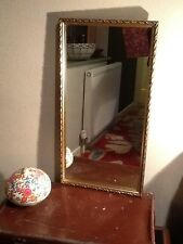 Gorgeous Vintage Gold French Nouveau Style Wall Mirror #1387