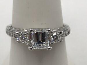 $17,000 1.50CT GIA CERTIFIED AUTHENTIC VERRAGIO PLATINUM DIAMOND ENGAGEMENT RING