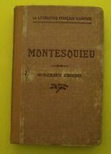 MONTESQUIEU - Morceaux choisis ( philosophie, poésie )  - 1947