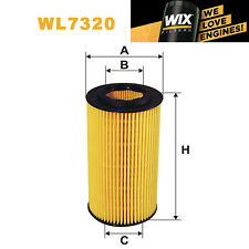 1x Wix Oil Filter WL7320 - Eqv to Fram CH9496