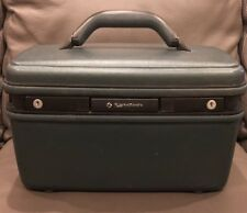 VINTAGE SAMSONITE TRAIN CASE GREEN MAKE UP BAG LUGGAGE