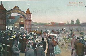 ROCHESTER NH - Fair Grounds Entrance - 1908