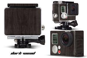 Skin Stickers for GoPro Hero 3+ Camera & Case Decal HERO3+ Go Pro DARK WOOD