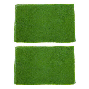 2pcs Light Green Grass Mat Lawn Model Railway Scenery Micro Landscape Decor