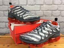 Nike Da Uomo UK 9 EU 44 Vapormax PLUS BOX GRIGIO ARANCIO Scarpe Da Ginnastica Rrp £ 155 LG