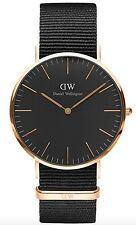Daniel Wellington Watch * DW00100148 Classic Black Cornwall 40MM NATO