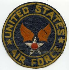 Korean War Era USAF Flocked Jacket Patch Silk-Screened on Leatherette
