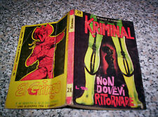 KRIMINAL N.28 ORIGINALE 1965 CORNO TIPO SATANIK-DIABOLIK-MAGNUS-FORD