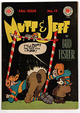 MUTT & JEFF #19 5.0 OFF-WHITE PAGES GOLDEN AGE