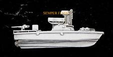 US NAVY RIVER BOAT PIN PATROL BOAT USS XL HAT PIN UP VIETNAM VET MOH BROWN WATER