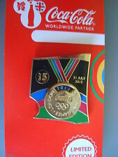 COCA COLA PIN BADGE - LONDON 2012 - DAY 5 GOLD MEDAL - MOC
