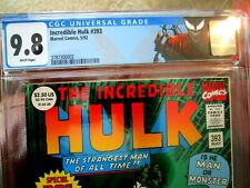 The Incredible Hulk Green Foil Cover # 393 1 of 95 CGC Graded at 9.8 30th Anniv.