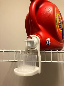 3X Laundry Detergent Cup Holder Gadget To Prevent Drips & Spills Industrial!