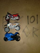HOT WHEELS LOT 3 MOTORCYCLES, Ducati Corse, Tred Shredder, Dirt Bike