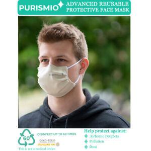 Purismio◊ Advanced Reusable Protective Fashion Face Mask - Oatmeal