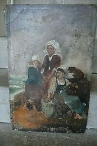 DATED & SIGNED 1886 . VICTORIAN  ANTIQUE OIL ON BOARD,