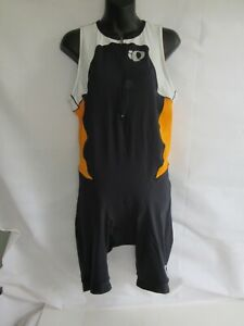 Pearl Izumi Speed Suits Elite In R Cool Tri Suit One Piece Sz XL Yellow Black