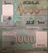LEBANON 2011 1000 LIVRES UNCIRCULATED BANKNOTE P-90 BUY FROM A USA SELLER !!