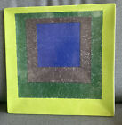 Josef Albers Study for Homage to A Square Ceramic Plate 12 x 12 Some Chips