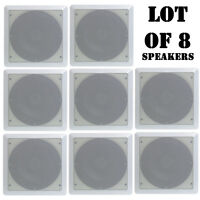 """Lot of (8) Speakers - Pyle PDIC65SQ 6.5"""" Two-Way Ceiling Square Speaker System"""