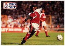 Paul Davis Arsenal #4 Pro Set Fútbol 1991-2 tarjeta de comercio (C364)