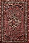 Vintage Geometric Traditional Area Rug RED Wool Hand-Knotted Oriental Carpet 5x7