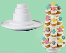 """Wilton 4-Tier Stacked Dessert Tower 307-856 16"""" Tall PARTY"""