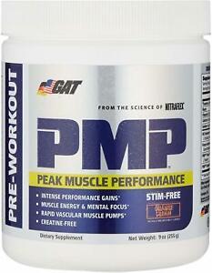 PMP Stim-Free Peak Muscle Performance by GAT SPORT, 30 servings Orange
