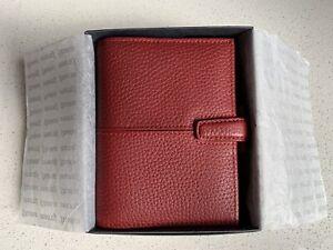Filofax Pocket Red Leather Organiser - Rare Finchley