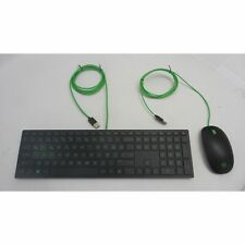 HP Pavilion Power Gaming Keyboard Mouse Set Turkish localized Black/Green USB