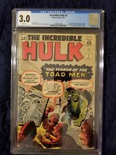 Incredible Hulk #2 1962 CGC 3.0 White Pages 1st appearance of the Green Hulk