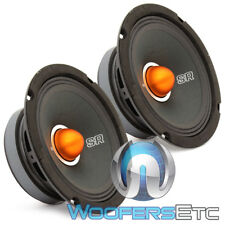 "PAIR MEMPHIS SRXP62 6.5"" 250W COMPONENT PRO SPL SPEAKERS 6 1/2"" CAR AUDIO NEW"
