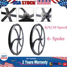"SALE!26"" Wheelset Rims Disc Brake Schrader MTB Bike Mag Wheel Set 8/9/10 Speed"