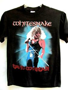 VTG ORIGINAL..1988 WHITESNAKE..CONCERT / TOUR..T-SHIRT..DAVID COVEROALE..sz MED