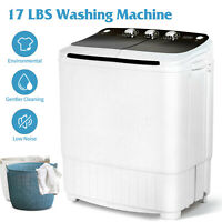 17LBS Portable Compact Washing Machine Twin Tub Spinner Washer&Dryer Laundry