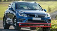 NEW GENUINE VW TOUAREG 15-17 R-LINE FRONT BUMPER LOWER SPOILER BLACK 7P6807061H