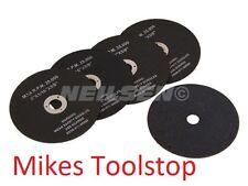 "5 Cut Off Wheels 3""(75mm) Air Tool Blades Metal Cutting Discs 3/8"" centre hole"