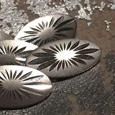18k Solid White Gold Men cufflinks 10x19.3mm