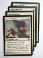 MTG Magic Cards: MORTAL OBSTINACY x4 Journey to Nyx playset # 24B64