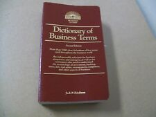 Dictionary of Business Terms by Steven Gifis, B. Hartman, J. Downes, Jack 1994