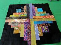 Batik Log Cabin Quilt blocks set of 12