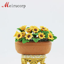 Sunflower flower bed for 1/12 Scale Dolls house Miniature decoration Flower