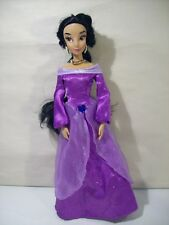 "DISNEY STORE PRINCESS JASMINE SINGING 11"" DOLL PURPLE OUTFIT ALADDIN"