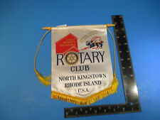 Vintage Rotary International Club Flag Banner North Kingstown RI Seabees VSL A