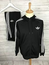 Mens Adidas Firebird Full Tracksuit - Large W34/36 L32 - Black - Great Condition