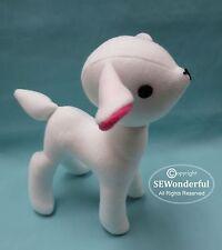 Cute Lamb Plush Stuffed Animal PDF Sewing Pattern Download